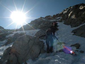Climbing to Huayna Potosi