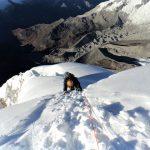 climbing Chopicalqui