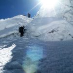 climbing Ishinca