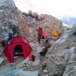 camping on Tocllaraju